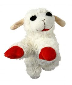 """Shari Lewis' beloved lamb, classic loveable soft plush dog toys with squeaker """"It's the song that never ends…"""" Your dogs will get a kick out of these dog toys while tossing this lamb around for hours."""