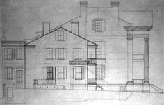The French Chatillon and DeMenil families built their sections of the Chatillon-DeMenil House in St. Louis in 1849 and 1863 respectively.
