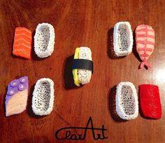 ClarArt - creations & ideas: 3D Pen tiny sushi jewel box