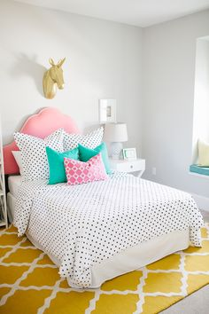 Bluffdale Residence - Happy & Colorful Girls Rooms – House of Jade Interiors