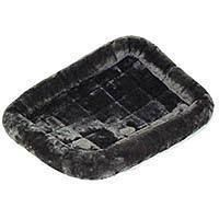 Midwest Quiet Time Pet Bed - Plush Fur Pearl Gray - 42