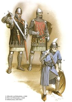 14th century troops by McBride: