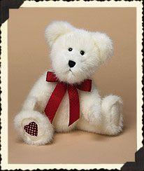 "Valentino (Boyds Bear 10"" retired)-part of my Valentine's Day display."