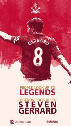 Steven Gerrard Legend Steven Gerrard Liverpool, Liverpool Captain, Liverpool Fans, Liverpool Football Club, Premier League Soccer, Juventus Fc, Zinedine Zidane, This Is Anfield, European Soccer