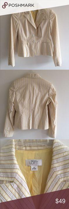 Lotf Blazer Stripe with Two Buttons Lotf Jacket Stripe with Two Buttons. Size: 4 Very good condition. LOFT Jackets & Coats Blazers