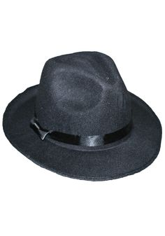 9879bc3c4fb Black Gangster Hat -  16 Gangster Outfit