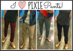 Shopping with Sheaffer:  OLD NAVY Edition!  I LOVE THESE PIXIE PANTS!  Perfect for teachers and other ladies with office jobs who can't wear jeans every day!  They come in tons of patterns and solids, and they are stretchy and comfy!