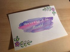 Handpainted card