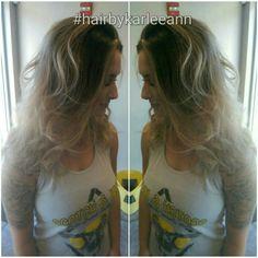 See you on the flip side 😎 #hairbykarleeann #ellemariekarlee #ellemarielakestevens #redkenobsessed #blonde #balayage #curls