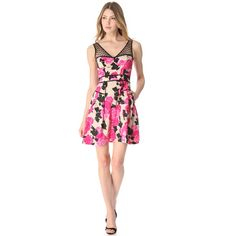 Milly Lanai Floral Dress ($360) ❤ liked on Polyvore