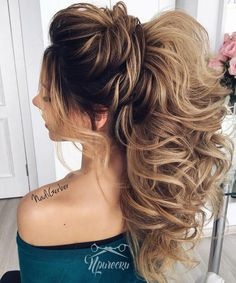 Sweet 16 Hairstyles, Wedding Hairstyles For Long Hair, Wedding Hair And Makeup, Ponytail Hairstyles, Hairstyles Haircuts, Bridal Hair, Cool Hairstyles, Aspirin For Hair, Braids With Curls