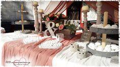ΣΤΟΛΙΣΜΟΣ ΓΑΜΟΥ ΣΕ ΡΟΥΣΤΙΚ ΣΤΥΛ  - ΑΓ. ΛΟΥΚΑΣ ΣΤΑΥΡΟΥΠΟΛΕΩΣ - ΚΩΔ:LAV-946 Table Settings, Weddings, Table Decorations, Furniture, Home Decor, Decoration Home, Room Decor, Wedding, Place Settings
