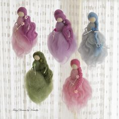 This beautiful wool fairy was created for tiny little babies so she can be part of their first photo session. She was created with lots of love and care. Then a little girl saw her and wanted to have one with a magic wand. Thus a real fairy was born. The fairy on the picture is