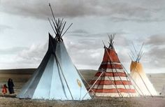 Native American Indian Pictures: Osage Indian Tipi and Villages Photo Gallery