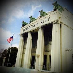 Does anyone know the history of the Scottish Rite building across from @Garcia?  #scotishrite #garcias #miami #305