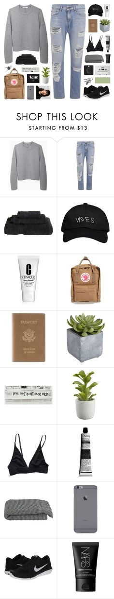 """Antidote"" by hhuricane ❤ liked on Polyvore featuring T By Alexander Wang, rag & bone, Superior, October's Very Own, Clinique, Fjällräven, Royce Leather, Pier 1 Imports, Crate and Barrel and Aesop"