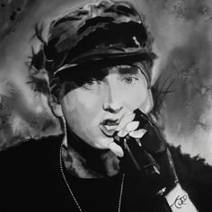 My New Charcoal Eminem drawing is ready✌ I hope you like it ✌ . Charcoal Portraits, Pop Art Portraits, Portrait Art, Eminem Drawing, Game Of Thrones, Pop Art Drawing, Drawing Tutorials For Beginners, Album Cover, Amazing Drawings