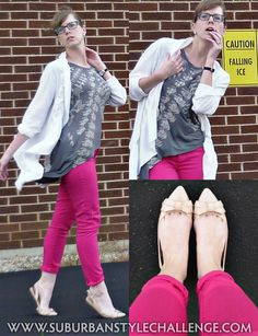 Random Outfits: July 1: Hot Pink Jeans