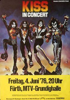 KISS - Love Gun 1976 - Poster Plakat Konzertposter