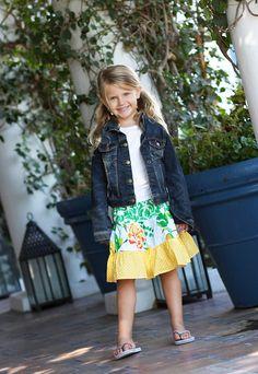 Girls Tiered Skirt Pattern Lateeda Kids