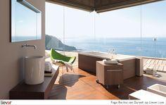 Fogo Bacino - Duravit. Met uitzicht op de oceaan heerlijk genieten vanuit je bad.