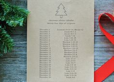 free download // a christmas advent calendar with 24 days of scripture for December