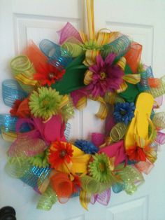 Flip Flop Wreath by Bessiebugs on Etsy, $40.00