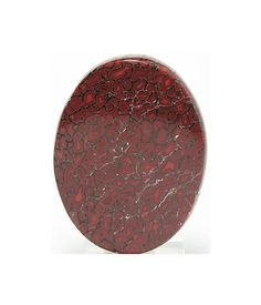 Red Dinosaur Agate Fossil Gem Bone Oval 40x30 mm by FenderMinerals, $50.00