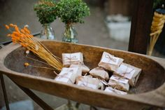 wedding favors // wrapped up scones for breakfast the next day