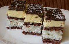 Prajitura cu nuca de cocos Sweet Desserts, Easy Desserts, Delicious Desserts, Romanian Desserts, Romanian Food, Cake Bars, Something Sweet, Desert Recipes, Cookie Recipes
