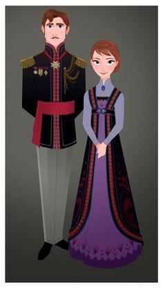 Costume designs de Frozen, por Brittney Lee | THECAB - The Concept Art Blog