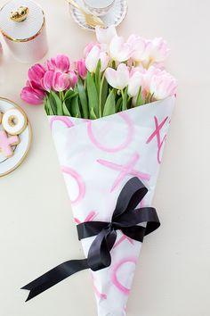 Easy watercolor floral wrap