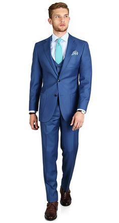 Premium Light Blue 3 Piece Suit