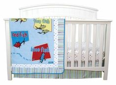 Dr Suess One Fish Two 3 Piece Crib Bedding Set