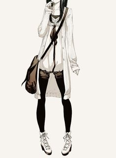 fashionable anime | anime, art, drawing, fashion, girl - inspiring picture on Favim.com ...
