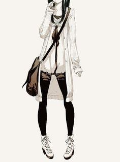 fashionable anime | anime, art, drawing, fashion, girl - inspiring picture on Favim.com ...