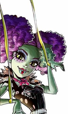 All about Monster High: Freak Du Chic - Honey Swamp, Jinafire Long and Toralei artworks