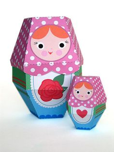 Matryoshka Paper Nesting Dolls by Fantastic Toys, via Flickr