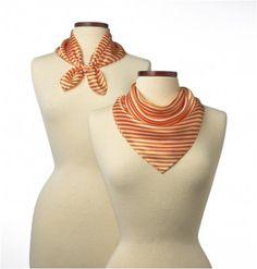 Saville Stripe Silk Scarves - Listing price: $29.99 Now: $20.00