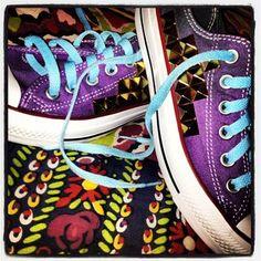 Purple converse  tie dye  studded  BLT e1c1abbbeeb86