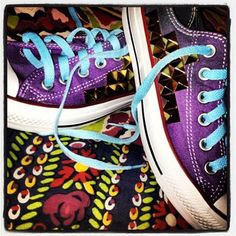 Purple converse #tie dye #studded #BLT