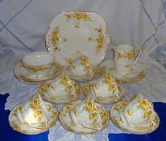 Superb Tea set POPPY Design 21 pieces Radford by AsFarAsVintage