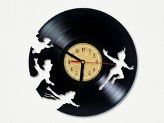 Vinyl Record Clock - Peter Pan. from Vinyl Eaters by DaWanda.com