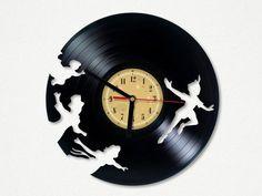 Vinyl Record Clock - Peter Pan. from Vinyl Eaters by DaWanda.com