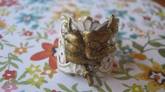 Bird Ring Bird Jewelry Pale Pink Patina over by enchantedsquirrel, $25.00
