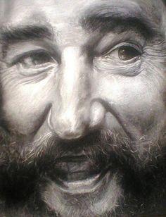 La impresionante manera de pintar a Fidel