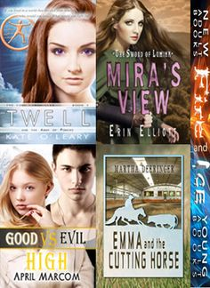 "Fire and Ice New Releases || June 26, 2014 || ""Twell"" by Kate O'Leary, ""Mira's View"" by Erin Elliott, ""Good Vs. Evil High"" by April Marcom and ""Emma and the Cutting Horse"" by Martha Deeringer"