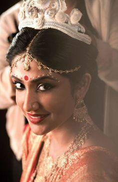 Bengali Bridal The Elegant Matha Patti