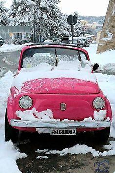 FIAT500nelmondo.it — Neve, neve e Fiat 500!  Ce la manda Oriana...