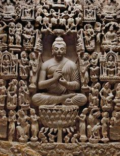 Gandhara architecture depicting Buddha. Buddha is considered an incarnation of Lord Vishnu and is worshipped by Hindus and Buddhists. About thousand years ago most of India was Buddhist.